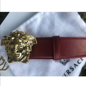 Versace Accessories - NWTS Versace Medusa Head Red Belt